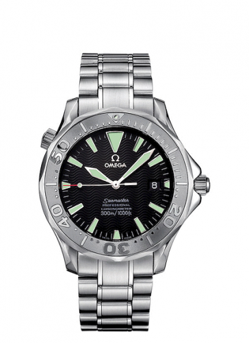 Omega 2230.50.00 : Seamaster Diver 300M Automatic 41 Stainless Steel / White Gold / Black / Non-America's Cup