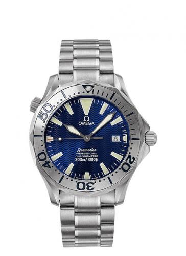 Omega 2232.80.00 : Seamaster Diver 300M Automatic 41 Titanium / Electric Blue / Bracelet