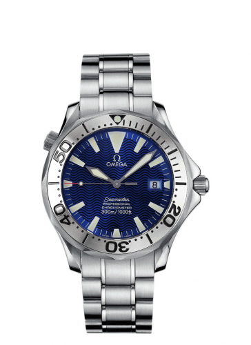 Omega 2255.80.00 : Seamaster Diver 300M Automatic 41 Stainless Steel / Electric Blue / Bracelet