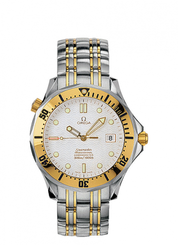 Omega 2332.20.00 : Seamaster Diver 300M Automatic 41 Stainless Steel / Yellow Gold / White / Bracelet