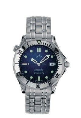 Omega 2532.80.00 : Seamaster Diver 300M Automatic 41 Stainless Steel / Blue / Bracelet