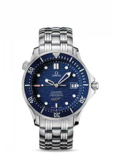 Omega 2537.80.00 : Seamaster Diver 300M Automatic 41 Stainless Steel / Blue / Bracelet / James Bond 40th Anniversary