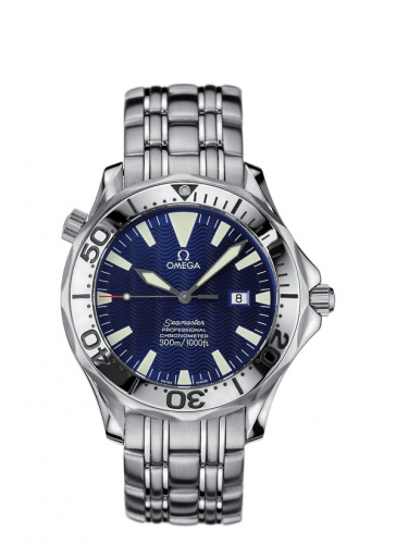 Omega 2055.80.00 : Seamaster Diver 300M Automatic 41 Stainless Steel / Electric Blue / Bracelet