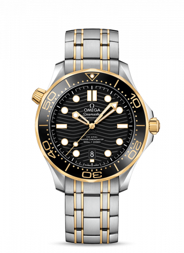 Omega 210.20.42.20.01.002 : Seamaster Diver 300M Master Co-Axial 42 Stainless Steel / Yellow Gold / Black / Bracelet