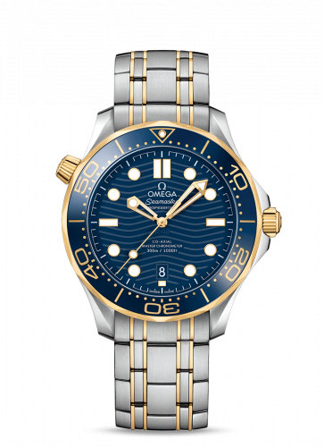 Omega 210.20.42.20.03.001 : Seamaster Diver 300M Master Co-Axial 42 Stainless Steel / Yellow Gold / Blue / Bracelet