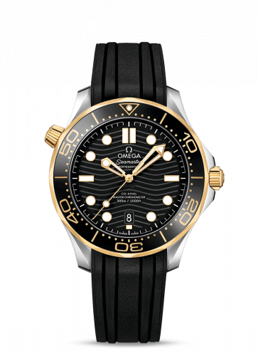 Omega 210.22.42.20.01.001 : Seamaster Diver 300M Master Co-Axial 42 Stainless Steel / Yellow Gold / Black / Rubber