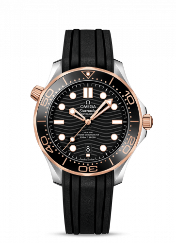 Omega 210.22.42.20.01.002 : Seamaster Diver 300M Master Co-Axial 42 Stainless Steel / Sedna Gold / Black / Rubber