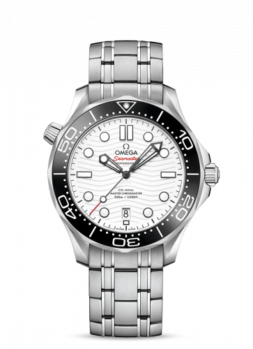 Omega 210.30.42.20.04.001 : Seamaster Diver 300M Master Co-Axial 42 Stainless Steel / White / Bracelet