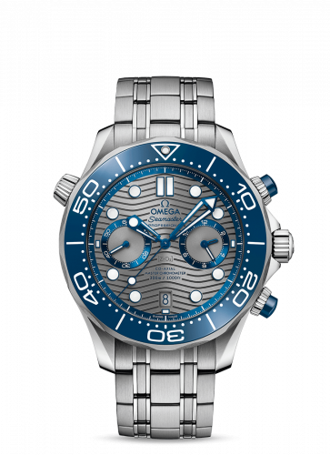 Omega 210.30.44.51.06.001 : Seamaster Diver 300M Master Co-Axial 44 Chronograph Stainless Steel /  Grey / Bracelet