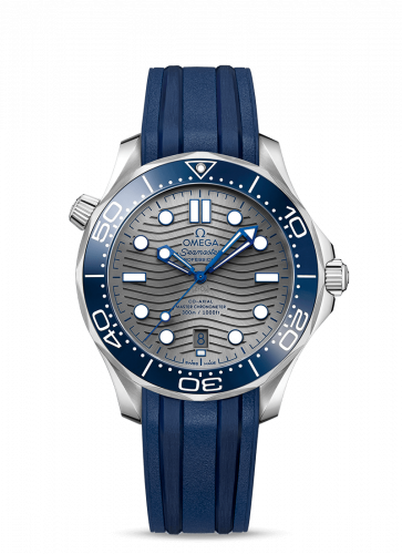 Omega 210.32.42.20.06.001 : Seamaster Diver 300M Master Co-Axial 42 Stainless Steel / Grey /  Rubber