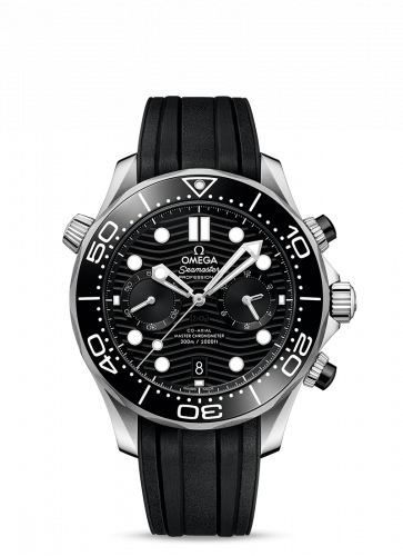 Omega 210.32.44.51.01.001 : Seamaster Diver 300M Master Co-Axial 44 Chronograph Stainless Steel /  Black / Rubber