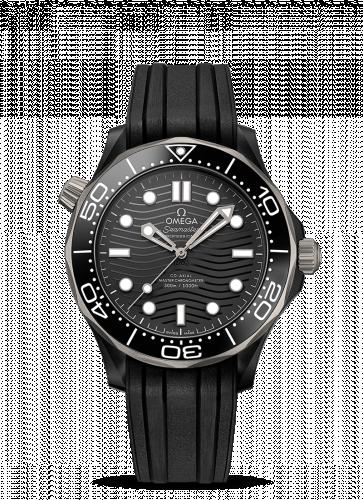 Omega 210.92.44.20.01.001 : Seamaster Diver 300M Master Co-Axial 43.5 Ceramic / Titanium / Black / Rubber