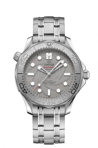 Omega 210.93.42.20.99.001 : Seamaster Diver 300M Master Co-Axial 42 Platinum Aston Martin Neiman Marcus
