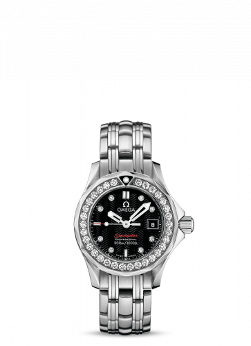 Omega 212.15.28.61.51.001 : Seamaster Diver 300M Quartz 28 Stainless Steel / Diamond / Black / Bracelet