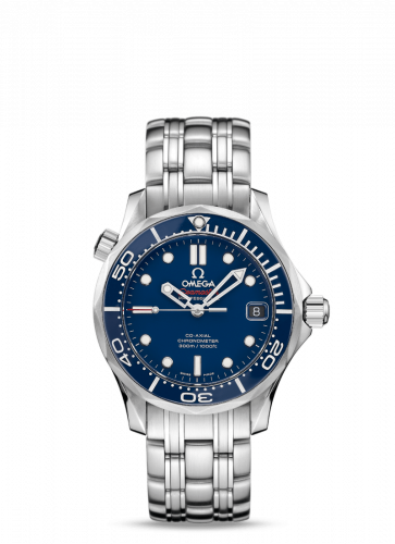 Omega 212.30.36.20.03.001 : Seamaster Diver 300M Co-Axial 36.25 Stainless Steel / Blue/ Bracelet / Ceramic