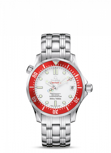 Omega 212.30.36.20.04.001 : Seamaster Diver 300M Co-Axial 36.25 Stainless Steel / White / Bracelet / Vancouver Olympics