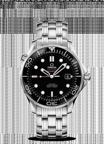 Omega 212.30.41.20.01.006  : Seamaster Diver 300M Co-Axial 41 Stainless Steel / Black / Bracelet / Ceramic / SASR