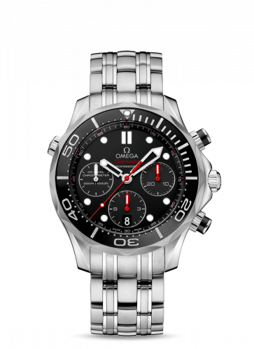 Omega 212.30.42.50.01.001 : Seamaster Diver 300M Co-Axial 41.5 Chronograph Stainless Steel / Black / Bracelet