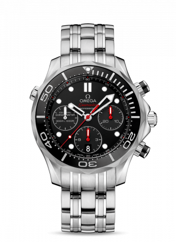 Omega 212.30.44.50.01.001 : Seamaster Diver 300M Co-Axial 44 Chronograph Stainless Steel / Black / Bracelet