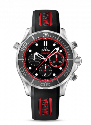 212.32.44.50.01.001 : Omega Seamaster Diver 300M Co-Axial 44 Regatta Chronograph Stainless Steel / Black / Rubber / ETNZ