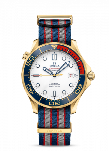 Omega 212.62.41.20.04.001 : Seamaster Diver 300M Co-Axial 41 Yellow Gold /James Bond Commander's Watch