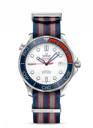 Omega 212.62.41.20.04.002 : Seamaster Diver 300M Co-Axial 41 White Gold /James Bond Commander's Watch