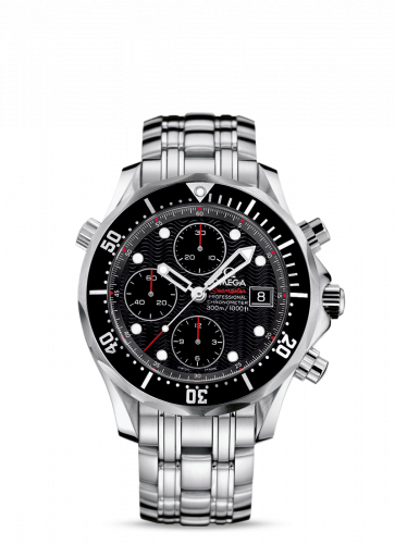 Omega 213.30.42.40.01.001 : Seamaster Diver 300M Automatic 41.5 Chronograph Stainless Steel / Black / Bracelet