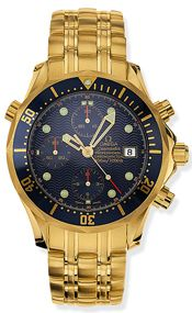 Omega 2198.80.00 : Seamaster Diver 300M Automatic 41.5 Chronograph Yellow Gold / Silver / Bracelet