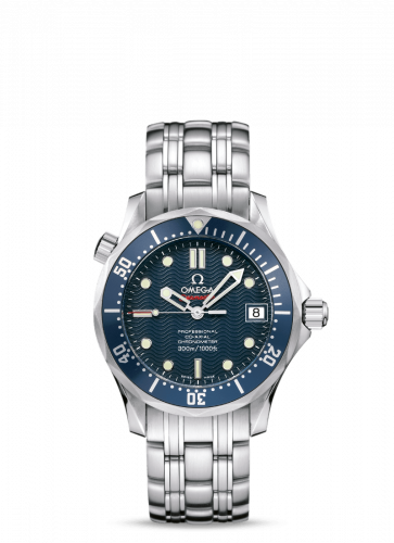 Omega 2222.80.00 : Seamaster Diver 300M Co-Axial 36.25 Stainless Steel / Blue / Bracelet
