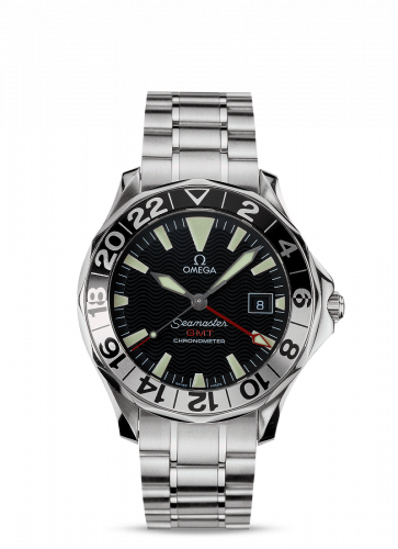 Omega 2234.50.00 : Seamaster Diver 300M Automatic 41 GMT Stainless Steel / Black / Bracelet / 50th Anniversary