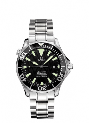 Omega 2255.50.00 : Seamaster Diver 300M Automatic 41 Stainless Steel / Black / Bracelet / Maccabiah