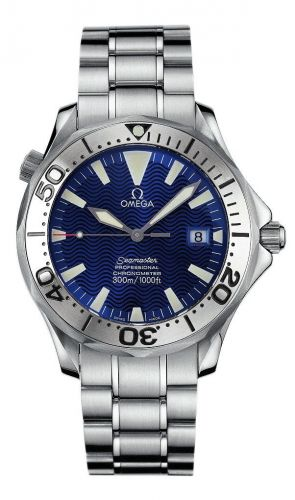 Omega 2256.80.00 : Seamaster Diver 300M Automatic 41 Stainless Steel / Electric Blue / Bracelet / Ian Thorpe