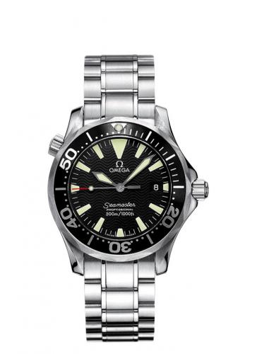 Omega 2262.50.00 : Seamaster Diver 300M Quartz 36.25 Stainless Steel / Black / Bracelet