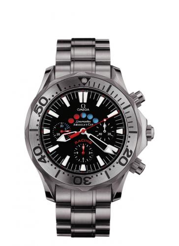 Omega 2269.50.00 : Seamaster Diver 300M Automatic 44 Racing Chronometer Titanium / Black / Bracelet / America's Cup