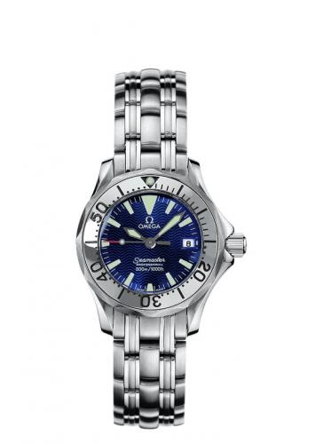 Omega 2283.80.00 : Seamaster Diver 300M Quartz 28 Stainless Steel / Electric Blue / Bracelet