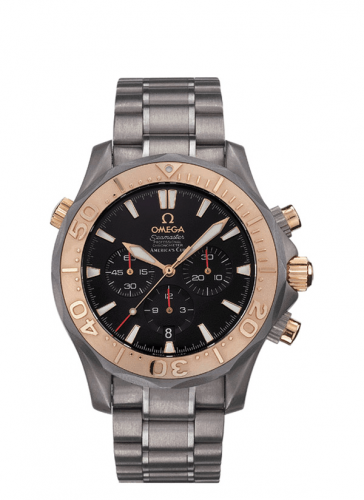 Omega 2294.50.00 : Seamaster Diver 300M Automatic 41.5 Chronograph Titanium / Red Gold / Black / Bracelet / America's Cup