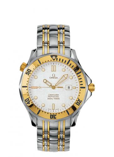 Omega 2342.20.00 : Seamaster Diver 300M Quartz 41 Stainless Steel / Yellow Gold / White / Bracelet