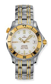 Omega 2352.20.00 : Seamaster Diver 300M Automatic 36.25 Stainless Steel / Yellow Gold / White / Bracelet