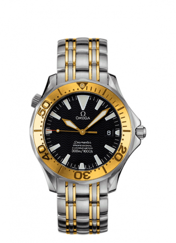 Omega 2453.50.00 : Seamaster Diver 300M Automatic 36.25 Stainless Steel / Yellow Gold / Black / Bracelet