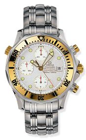 Omega 2498.20.00 : Seamaster Diver 300M Automatic 41.5 Chronograph Stainless Steel / Yellow Gold / Silver / Bracelet