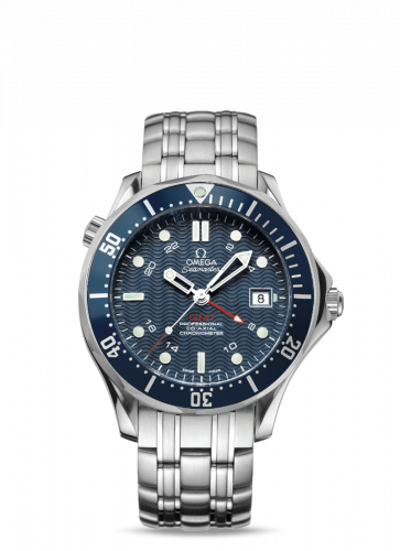 Omega 2535.80.00 : Seamaster Diver 300M Co-Axial 41 GMT Stainless Steel / Blue / Bracelet