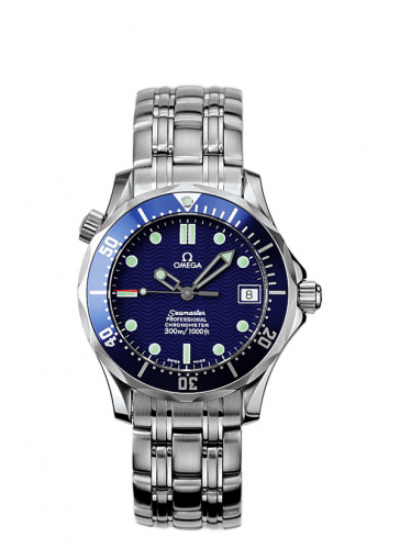 Omega 2551.80.00 : Seamaster Diver 300M Automatic 36.25 Stainless Steel / Blue / Bracelet