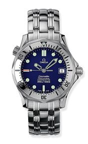 Omega 2552.80.00 : Seamaster Diver 300M Automatic 36.25 Stainless Steel / Blue / Bracelet