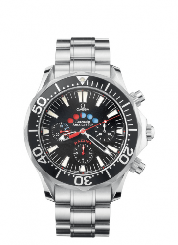Omega 2569.50.00 : Seamaster Diver 300M Automatic 44 Racing Chronometer Stainless Steel / Black / America's Cup