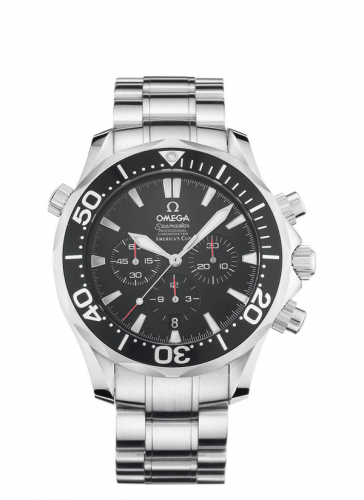 Omega 2594.50.00 : Seamaster Diver 300M Automatic 41.5 Chronograph Stainless Steel / Black / Bracelet / America's Cup