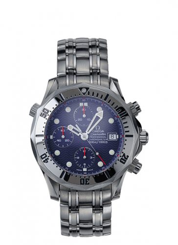 Omega 2598.80.00 : Seamaster Diver 300M Automatic 41.5 Chronograph Stainless Steel / Blue / Bracelet