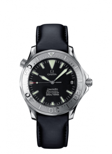 Omega 2836.50.91 : Seamaster Diver 300M Automatic 36.25 Stainless Steel / White Gold / Black / Leather