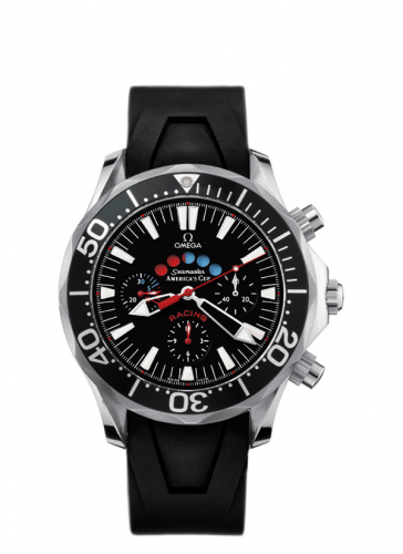 Omega 2869.50.91 : Seamaster Diver 300M Automatic 44 Racing Chronometer Stainless Steel / Black / Rubber / America's Cup