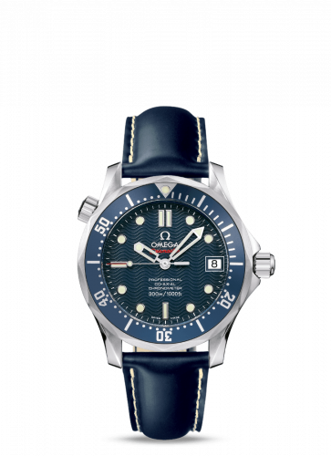 Omega 2922.80.91 : Seamaster Diver 300M Co-Axial 36.25 Stainless Steel / Blue / Rubber