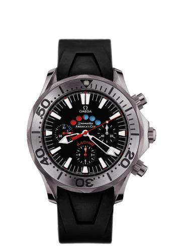 Omega 2969.50.91 : Seamaster Diver 300M Automatic 44 Racing Chronometer Titanium / Black / Rubber / America's Cup